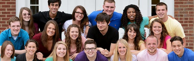 Our Admissions Ambassadors for 2012-13. One of these students may be your overnight host!