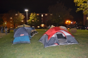 Some of the tents for the Low Impact Week camp out!