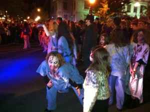 I did go to the Thriller parade downtown my first year here. It's a really popular event and once you remind yourself that zombies aren't real, it's lots of fun!