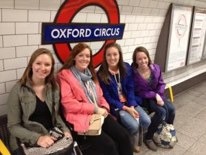 I bonded with Meaghan, Chelsea, and Rebecca when we spent last May term exploring London together!