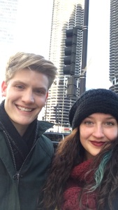 Sam and Hannah J. '16 traveled to Chicago together to get their student visas for study abroad in France