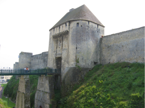 This is Château de Caen, and it was William the Conquerer's castle. It is between my house and the University, and I cross through its moat and interior every day.