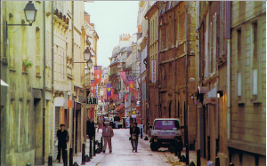 This is Rue Ecuyère, a street full of café and restaurants where lots of young people and students go to socialize on the weekends.