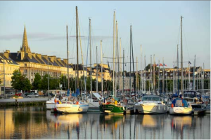 This is the Port de Caen just one street from my house. The Port plus the Château create a very pleasant and interesting walk to class, and those are just two of many landmarks along the way!