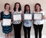 The four of us received certificates for presenting in the Undergraduate Honors Conference! From L to R: me, Alex, Kiara, Heidi