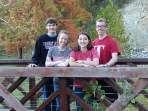 Transylvania's PULF Scholars: Elijah, me, Hannah, and my brother Daniel (from L to R)